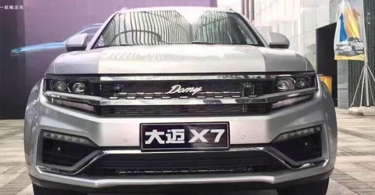 ZOTYE DAMAI X7 — китайцы снова копируют бренды