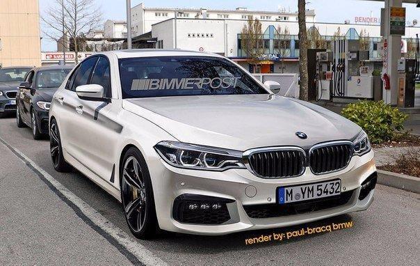 Шпионские фото BMW 5-series 2017 года